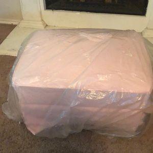Pink rocking footstool